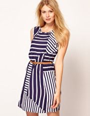 Oasis Stripe Belted Tunic