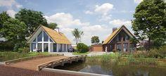 Architektenburo JJ van Vliet. Twee bouwkavels in Stompwijk.