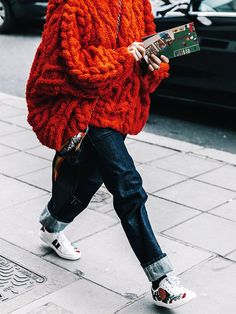 How to Style Sneakers in the Winter, From Our Favorite It Girls