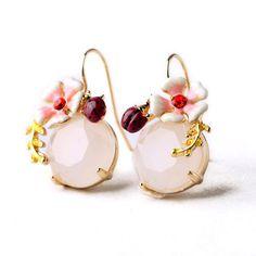 Les néréides bijou fleur coccinelle boucles d'oreilles pour femmes Simple et élégante Lady parti bijoux dans Clous d'oreilles de Bijoux sur AliExpress.com | Alibaba Group