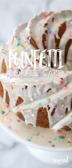 Sprinkles make everything taste better, right? It also makes it so much prettier. That's why I love this Funfetti Coffee Cake!