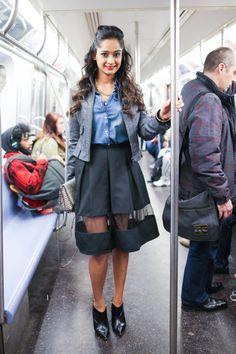 Subway Stalking - NYC Train Street Style