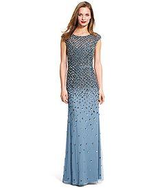 Adrianna Papell Beaded Mermaid Gown #Dillards