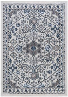 This KHL area rug brings classic Oriental style to the modern world. Mediterranean Area Rugs, Clearance Area Rugs, Machine Made Rugs, Indoor Rugs, Oriental Rug, Oriental Style, Modern Rugs, Rug Making, Woven Rug