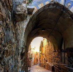 Inside the Old City of Jerusalem, Israel,  by Kelly Winkel...