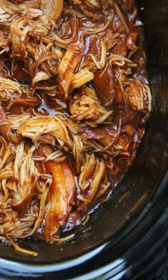 """""""THE BEST"""" SLOW COOKER BARBECUED CHICKEN ~~~ paraphrased, """"i'm not joking… this really is going to be the easiest barbecue chicken you have ever made. since I first tested this recipe, it has made its way into our weekly meal rotation. it is just that good!"""" [familyfreshmeals]    Now, don't get me wrong…nothing beats BBQ chicken straight off the grill. BUT, the flavors of this recipe can't be beat and you don't have to sweat over a hot grill. [familyfreshmeals] [slow cooker, crock-pot]"""