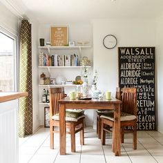 Retro chic dining room with signboard artwork Dining Area, Kitchen Dining, Home Decor Australia, Home Board, Dining Room Inspiration, Room Pictures, Retro Home Decor, Retro Chic, Beautiful Bedrooms