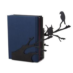 PERCHING BIRDS BOOKENDS | bird silhouette | UncommonGoods