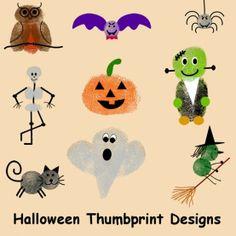 Halloween Thumbprint