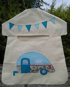 Caravan Applique Peg Bag