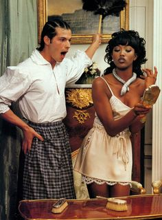 """""""Scarlett 'n the Hood"""" Naomi Campbell and her white slave by Karl Lagerfeld, Vanity Fair, May 1996 Interacial Love, Interacial Couples, Couple Goals, Cute Couples Goals, Cute Relationship Goals, Cute Relationships, Pretty People, Beautiful People, Beautiful Models"""