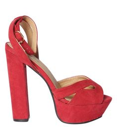 Red Block Sandal