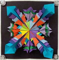 Art with Ms. Gram: Radial Paper Relief Sculptures Part II (5th)