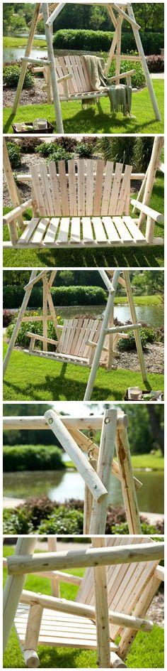 Outdoor Log Swing