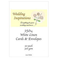 Craft UK blank greeting cards & envelopes - square 6 x 6…