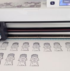 Cutting Rubber Stamped Images with ScanNCut - by Ashley Morrison.
