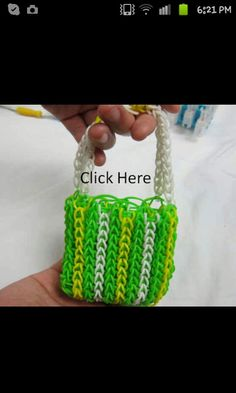 Rainbow loom purse!!!