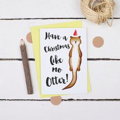 Funny Christmas Card  A Christmas Like no Otter  by AlexiaClaire