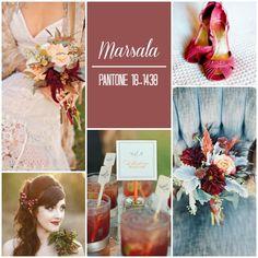 Pantone Color of the Year 2015 Marsala Pantone 2015, Pantone Colors 2015, 2015 Wedding Trends, Wedding 2015, Spring Wedding, Wedding Color Schemes, Wedding Colors, Green Wedding, 2015 Color Trends
