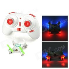 WLtoys V676 2.4GHz 4-CH Outdoor R/C UFO Helicopter Aircraft w/ 6-Axis Gyro / Lamp - White + Green
