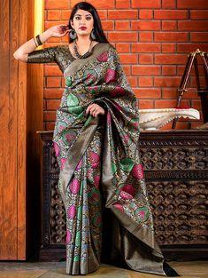 New Banarasi Silk Indian Wedding Saree Designer Party Wear Bridal Women Sari Women Dresses from top store Latest Indian Saree, Indian Sarees, Ethnic Sarees, Trendy Sarees, Silk Cotton Sarees, Casual Saree, Patiala, Handloom Saree, Salwar Kameez