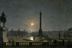 Henry Pether, Trafalgar Square by Moonlight, 1865 c., Museum of London, London, oil on canvas