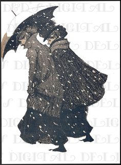 Rare. Two Art Nouveau Ladies Struggle In by DandDDigitalDelights, $1.99