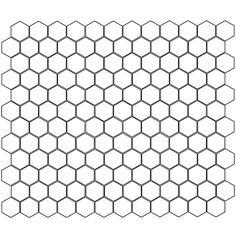 """1"""" Hexagon Netted - Pratt & Larson mosaic tile"""