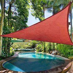 Patio Triangle Sun Sail Shade Canopy 16.5ft Color Optional