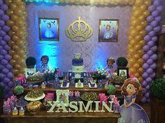 Princesa Sofia para comemorar os 7 anos da Yasmin #festaprincesasofia #festaprincesinhasofia #princesinhasofia #princesasofia #espalhefestas