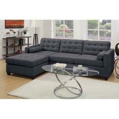 "Found it at Joss & Main - Corrine 110"" Reversible Chaise Sectional"
