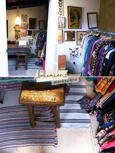 bohemian workspace of Emily Liebl | Dream Job interview on Inspired to Share