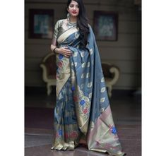 Online saree shopping for wide range of online indian sarees. Buy this adorning weaving work designer traditional saree. Buy Designer Sarees Online, Indian Designer Sarees, Indian Sarees, Indian Bollywood, Designer Wear, Bollywood Style, Art Silk Sarees, Silk Sarees Online, Banarasi Sarees