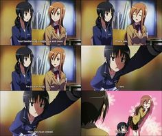 Ahaha.. Tsuda just standing there too tired to respond to them... (Seitokai Yakuindomo)