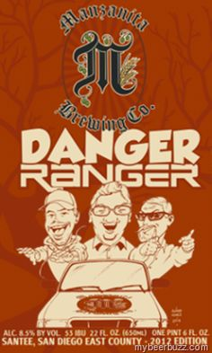 Manzanita Brewing Releases Danger Ranger Imperial Red