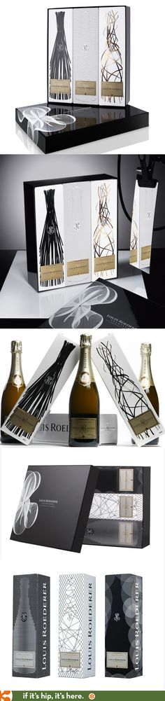 2 Different Beautifully packaged Louis Roederer Graphic Gift Boxes (Coffrets Graphiques)