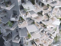 Equipo liderado por Sou Fujimoto diseña torre de vivienda inspirada en árboles para Montpellier