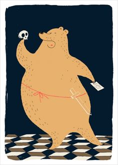 """""""To be a bear or not to be"""" by Dominique Le Bagousse for L'Affiche Moderne"""