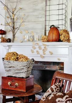 A great way to Welcome Fall is with Fabulous Farmhouse Fall Mantels so of course we have put together a wonderful collection of them for you. From Rustic to Elegant to Alternative Mantels…there is inspiration for everyone. So grab a cup of hot apple cider and a cinnamon donut to set the mood and visit …