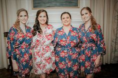 Etsy Adult & Kids Robes ADD CUSTOMIZATION Cotton Floral Robe Perfect For Bride, Bridesmaid, Mother Of The
