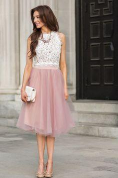 Jupon en tulle : Leighton White Sleeveless Lace Top  Morning Lavender