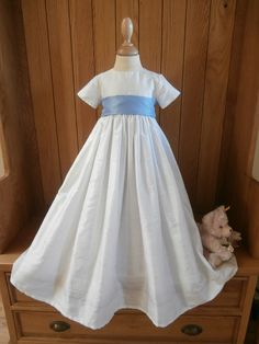 c5449a7d5bf The Paris unisex christening gown in silk. Christening Gowns For Boys