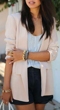 Blush Silk Blazer <3