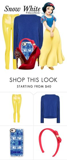 """""""Snow White"""" by the-disney-icon-girls ❤ liked on Polyvore featuring Topshop, By Malene Birger, Casetify, Salvatore Ferragamo, Casadei and Alicesstyle"""