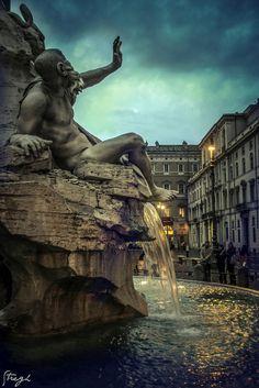 Piazza Navona - Tramonto - Roma - Italy   by (¯`•.¸Stregh¸.•´¯) Annalisa