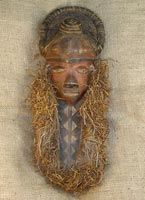 African Masks from the Pende tribe. Pende Mask 7. This African Mask is 19 inches…
