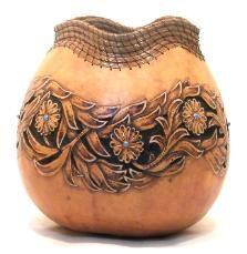 Carving, Wildlife, and Wood Burning Fine Art Gourds by Hellen Martin - National & International Fine Gourd Art Artists