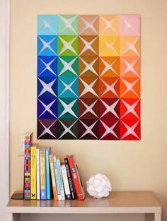 BLOG ::: Gecko Adesivos de Parede ::: Crie um painel colorido pra sua casa