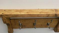 Reclaimed Wood 3 Peg Coat Rack Entryway by MDBespokecreations