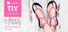 summer t straps - turn your basic flip flops into chic beach or poolside footwear.